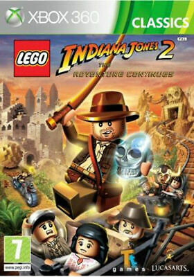 Xbox 360 LEGO Indiana Jones 2 The Adventure **New & Sealed** Xbox One Compatible