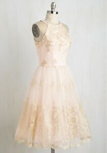Blush Bridesmaid Dress, size 4/6