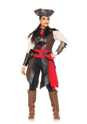 Deluxe Assassins Creed Aveline Costume Liberation 3 Womans Ladies Teen 9pc Med M](Female Assassin Creed Costume)