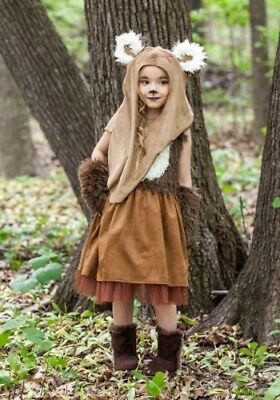 CHILD KIDS GIRLS STAR WARS WICKET EWOK DRESS - Star Wars Wicket Kostüm