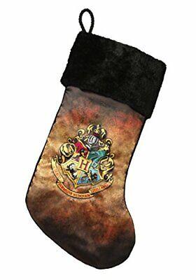 Harry Potter Hogwarts Crest Christmas Stocking Standard Brown