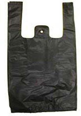 Black Plastic Bags Tshirt Retail Small 110 Hd Quality Wholesale 8 X 3.5 X 15