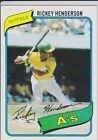 Rickey Henderson Rookie Baseball Cards