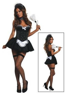 WOMEN'S SEDUCTIVE MAID COSTUME ADULT SIZE MEDIUM (w/defect) - Seductive Costume