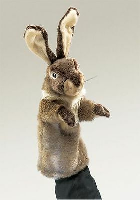 ( RABBIT STAGE PUPPET # 2800 ~ Free Shipping in USA ~ Folkmanis Puppets)