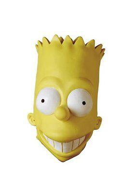 Bart Mask (DELUXE QUALITY BART SIMPSON FULL VINYL MASK ADULT HALLOWEEN COSTUME ACCESSORY)