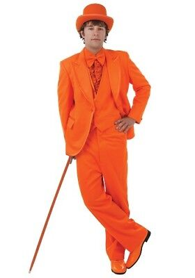 Men's Orange Authentic Tuxedo Dumb and Dumber Costume Used S M L XL 2X Clemson