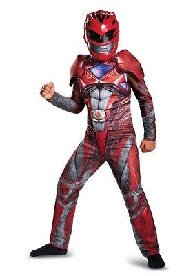 (2017) - Red Ranger - Deluxe Child Costume (Deluxe Power Rangers Kostüm)