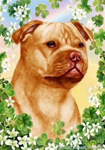 Clover House Flag - Orange Staffordshire Bull Terrier 31247