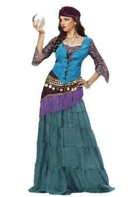 FABULOUS FORTUNE TELLER GYPSY WOMEN'S COSTUME SIZE XL (missing hip scarf)
