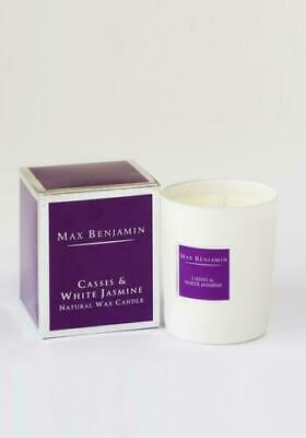 IMPERFECT - Max Benjamin Scented Glass Candle in Box - Cassis and White Jasmine