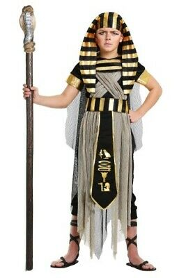 CHILD KIDS BOYS EGYPT KING TUT PHARAOH COSTUME SIZE XL (Used)