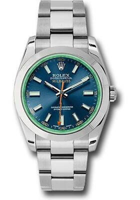 NEW Rolex Milgauss Automatic  40mm Ref. 116400 Stainless Steel Blue Dial