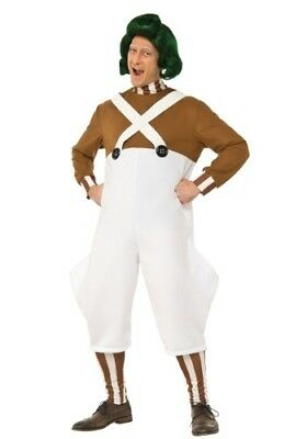MEN'S DELUXE OOMPA LOOMPA WILLY WONKA COSTUME SIZE SMALL (with defect) - Willy Wonka Oompa Loompa Costumes