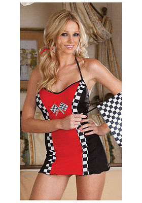 SEXY DREAMGIRL WOV RACE TRACK GIRL COSTUME ONE SIZE FITS ALL - Racing Costumes