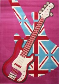 Retro Funky Girls Rock Rug 160cm x 230cm