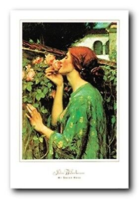 John William Waterhouse My Sweet Rose Art Print Poster (24x36) - My Sweet Rose