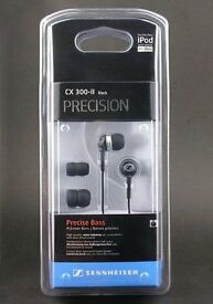 Brand New Sealed SENNHEISER CX 300-II IN-EAR DEEP BASS EARPHONES ,BLACK
