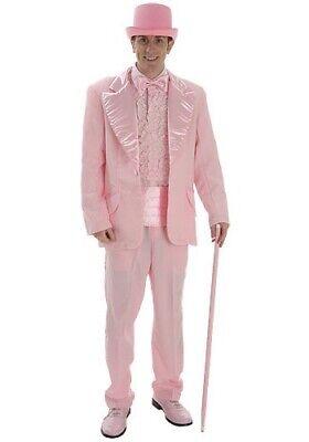 Men's Pink Tuxedo Costume Jacket, Shirt and Tie - Size Medium and Large - Pink Tuxedo