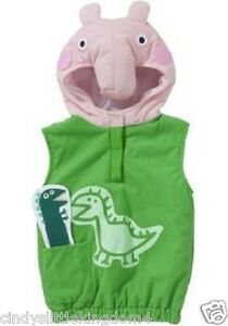 Peppa Pig George boys dino Dinosaur dressing up outfit fancy dress costume 2-4
