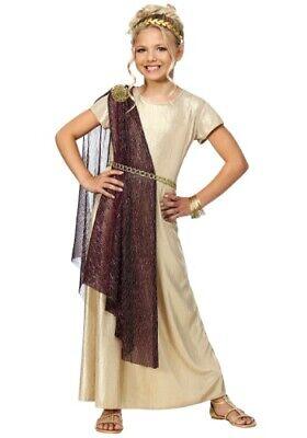 Girls Roman Goddess Costume (CHILD KIDS GIRLS GREEK ROMAN ROYAL GODDESS EMPRESS NOBLE COSTUME SIZE M)