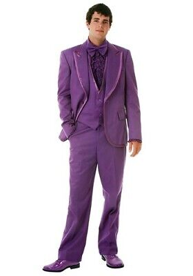 Men's Purple Authentic Tuxedo Suit Costume Size S, XL and 2X Vikings Ravens Mavs