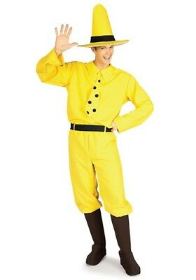 Man In The Yellow Hat Costume (ADULT MAN IN THE YELLOW HAT CURIOUS GEORGE COSTUME SIZE STANDARD)