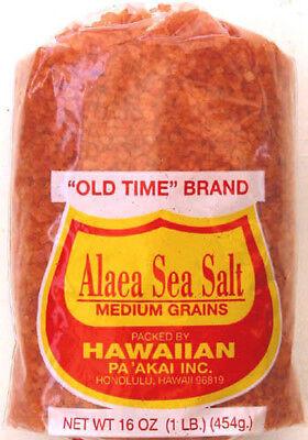 - HAWAIIAN ALAEA RED SEA SALT ~ MEDIUM GRAINS ~ 3 LB