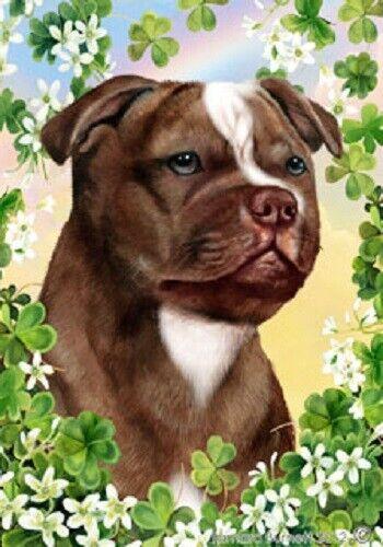 Clover House Flag - Chocolate Staffordshire Bull Terrier 31244