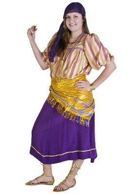 USED Women's Jeweled Gypsy Costume PLUS SIZE (Woman Gypsy Costume)