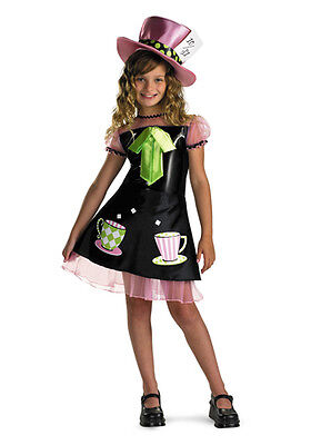 Girls Mad Hatter Costume Fancy Dress Halloween Alice Wonderland M L Child Kids](Mad Hatter Halloween Costume For Girls)