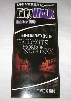 HALLOWEEN HORROR NIGHTS XX UNIVERSAL CITY WALK BROCHURE