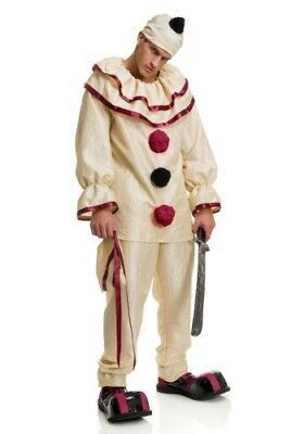 ADULT FREAKY CLOWN COSTUME SIZE L (Missing Hat) (Freaky Clown Costume)