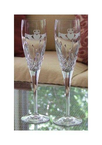 Crystal Wedding Champagne Flutes Ebay