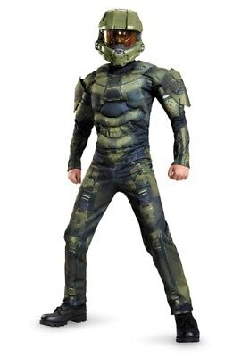 Halo Master Cheif Costume (NEW Costume Boys HALO MASTER CHIEF CHEIF 3D JUMPSUIT SMALL)