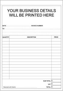 Invoice Book Office Supplies Stationery EBay - Business invoice pads
