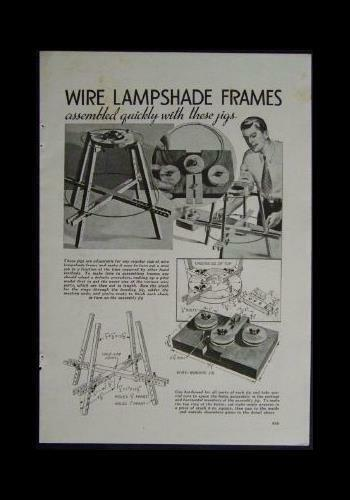 Jigs to make Wire Lamp Shade Frames 1939 Vintage HowToPLANS