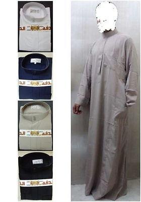 Thoub Abaya Robe Daffah Dishdasha Islamic Arabian Kaftan Men Saudi Style Thobe