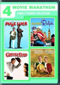 4 MOVIE MARATHON FAMILY COMEDY New DVD Pure Luck King Ralph Ghost Dad For Richer