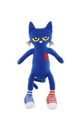 Pete The Cat Doll (New Sealed Pete the Cat Plush Doll Toy Blue with Tag by James Dean)