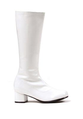 Girls White Gogo Boots (Dora Girls White 1.75