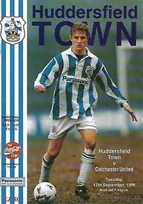Huddersfield Town Colchester United 17/09/96 Leeds Road football programme