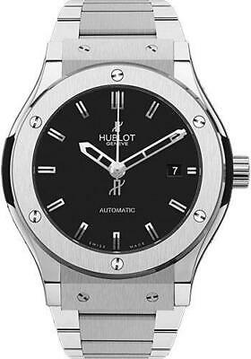 Hublot Classic Fusion Automatic Titanium 38mm Black Dial Watch 565.NX.1170.NX