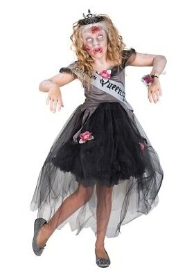Zombie Costume For Girl (Girl's Zombie Prom Queen Costume SIZE M (with)