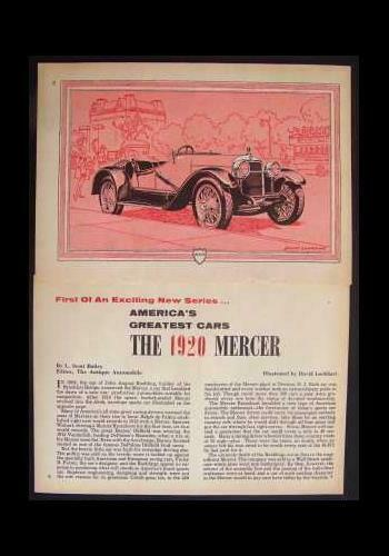 1920 Mercer vintage Graphic History Pictorial