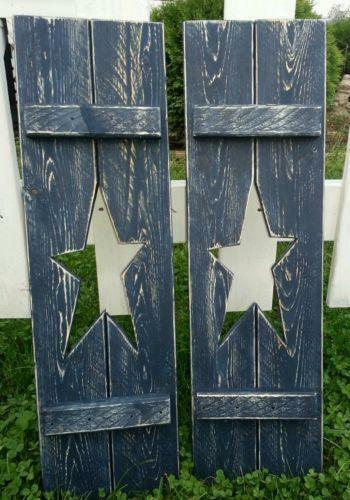Country Shutters Primitives Ebay