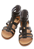 Modcloth Return to Style Sandal in Black, Size 8.5 (fits like 9.