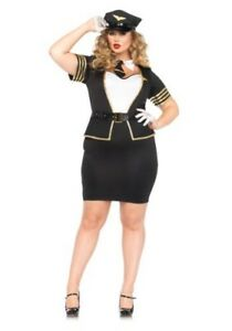 PLUS SIZE MILE HIGH PILOT COSTUME