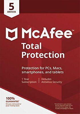 McAfee Total Protection 2018 5 PC / Geräte / 1Jahr Vollversion Antivirus