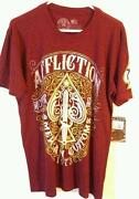 Mens Affliction T Shirt Large